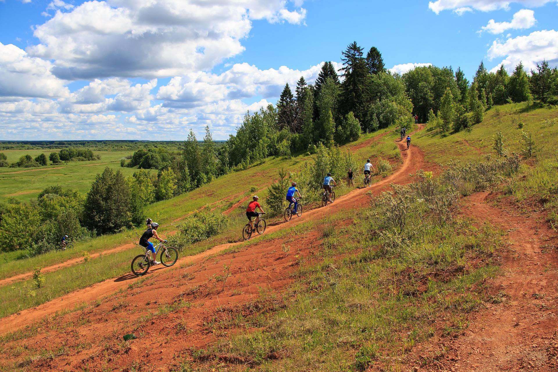 Subidas no mountain bike: single line