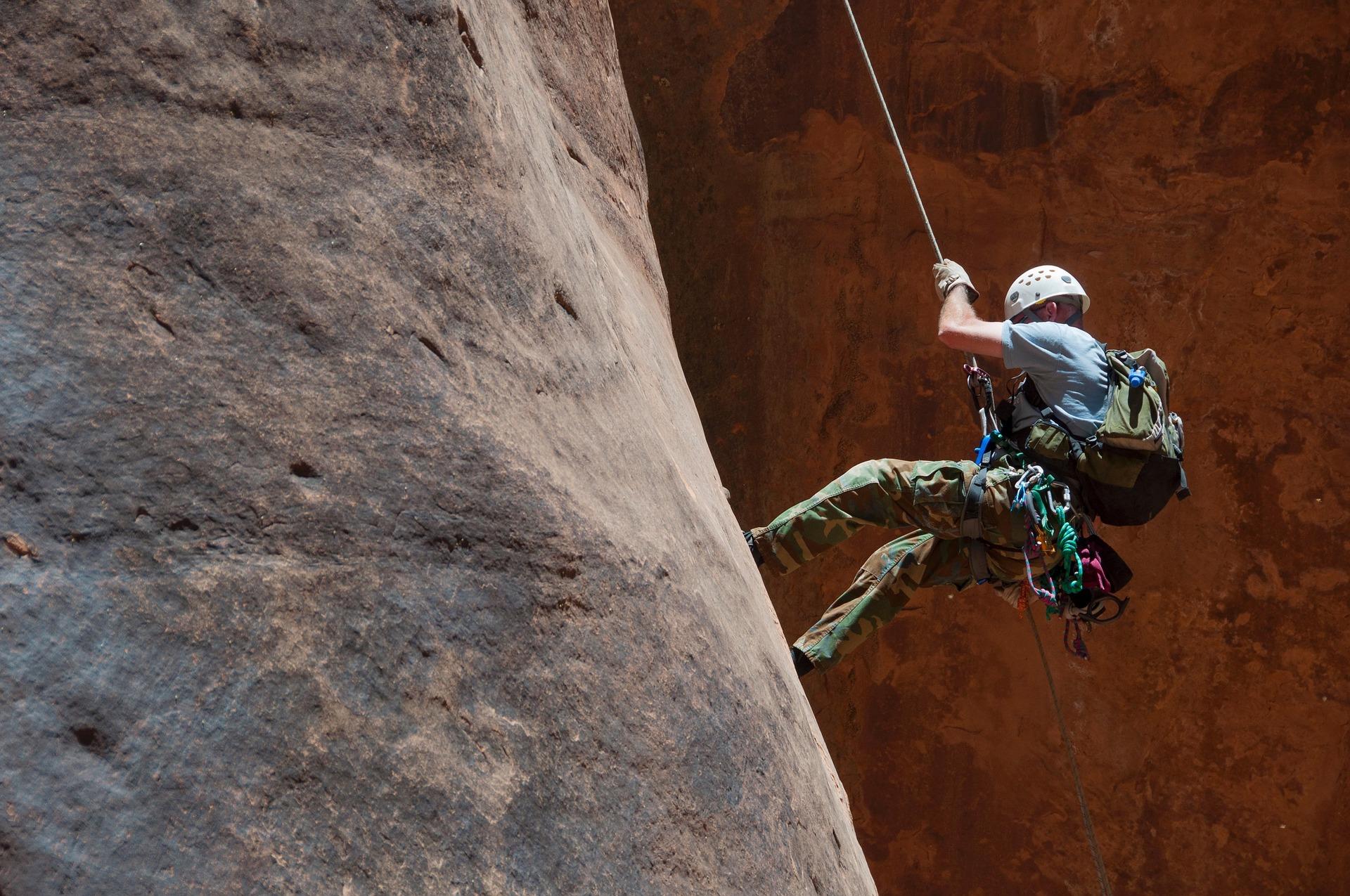 Escalada e esportes verticais: Rapel